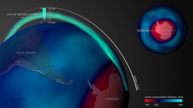 Dziura ozonowa Arktyka październik 2015 / Flickr / @ NOAA Satellites / Public Domain