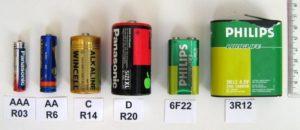 Typy baterii