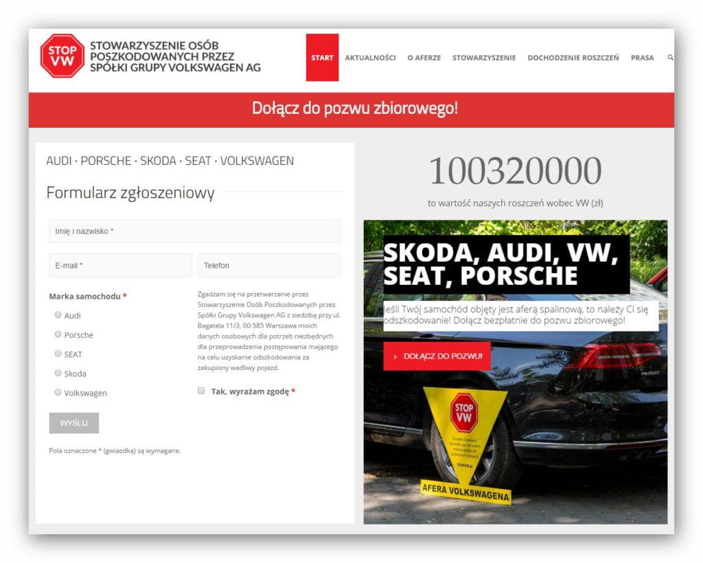 W Polsce odszkodowania od Volkswagena za wadliwe samochody domaga się już 3,2 tysiące osób