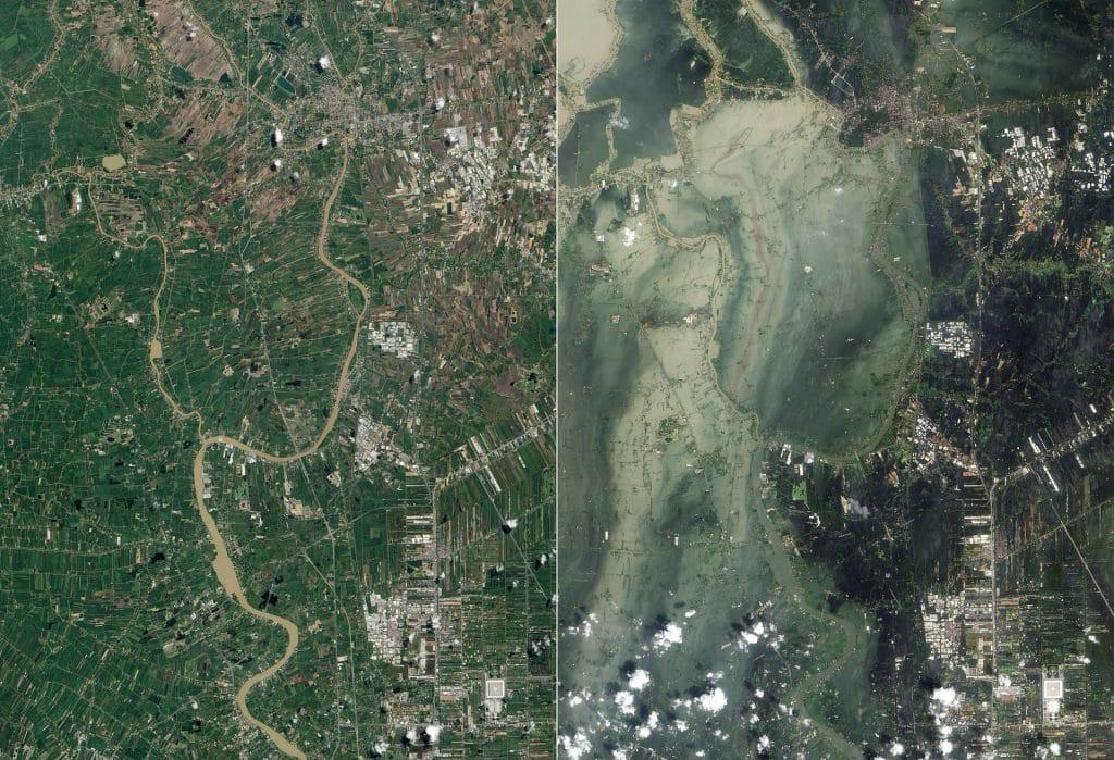 Katastrofy ekologiczne (synergiczne) polegające na jednoczesnym wystąpieniu katastrofy ekologicznej naturalnej i antropogenicznej
