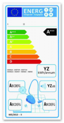 Etykieta energetyczna dla odkurzaczy uniwersalnych